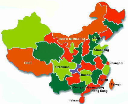 Chinese food recipes chinese southern cooking chinese southern cooking guangdong guangxi fujian and taiwan map of china forumfinder Choice Image