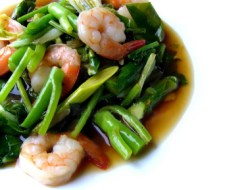 Chinese Stir Fry Kailan with Shrimps