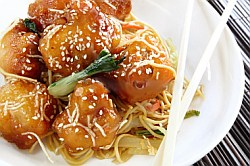 Honey Chicken with Noodles